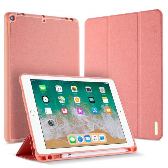 """DUX DUCIS pouzdro s prostorem pro Apple Pencil pro Apple iPad 9,7"""" (2017/2018) - růžové - možnost vrátit zboží ZDARMA do 30ti dní"""