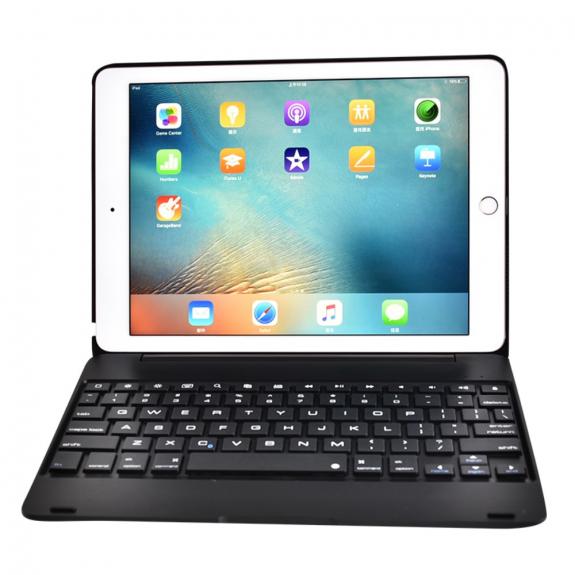 """AppleKing pevný kryt s bezdrátovou klávesnicí pro Apple iPad Air 2 / iPad Pro 9.7"""" - černý - možnost vrátit zboží ZDARMA do 30ti dní"""