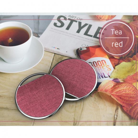 AppleKing luxusní bezdrátová Qi nabíječka s textilním povrchem pro Apple iPhone - červená - možnost