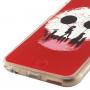 Otevírací / flip gumové pouzdro pro iPhone 6 / 6S - červené s dětmi a balóny