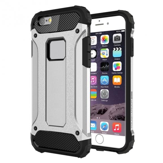 "Super odolný ""Armor"" kryt pro Apple iPhone 6 / 6S - stříbrný"
