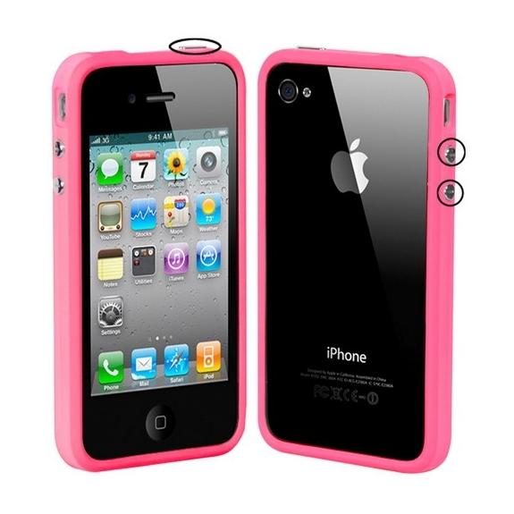 AppleKing ochranný plastový rámeček / bumper pro iPhone 4 / 4S - růžový - možnost vrátit zboží ZDARMA do 30ti dní
