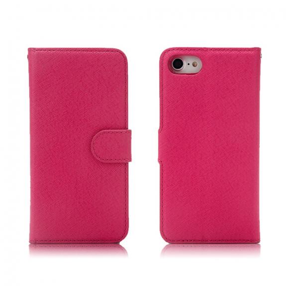AppleKing 2v1 ochranné odnímatelné flipové pouzdro pro Apple iPhone SE (2020) / 8 / 7 - růžové - možnost vrátit zboží ZDARMA do 30ti dní
