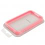 Ochranný plastový rámeček / bumper pro iPhone 4 / 4S - růžový