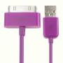 Synchronizační a nabíjecí 30pin kabel pro iPhone 4 / 4S / 3G / 3GS / iPad 2 / iPod Touch - 1m - fialový