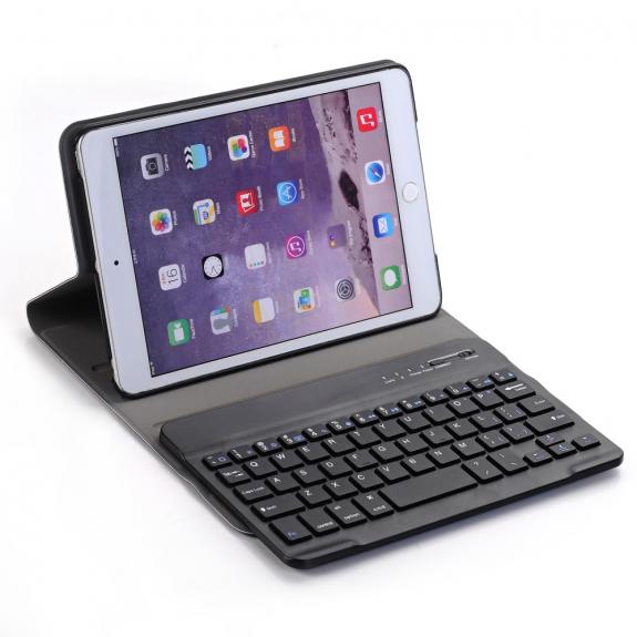 AppleKing ochranné pouzdro s klávesnicí pro Apple iPad Mini 1 / 2 / 3 - černé - možnost vrátit zboží ZDARMA do 30ti dní