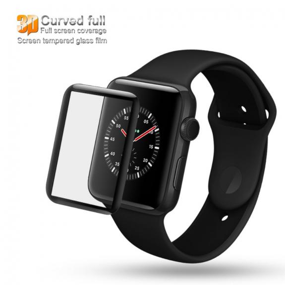 AppleKing iMAK 3D temperované sklo se zaoblenou hranou pro Apple Watch - 42mm - možnost vrátit zboží ZDARMA do 30ti dní