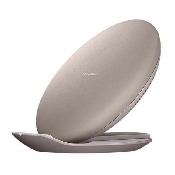 AppleKing bezdrátová nabíječka s funkcí rychlého nabíjení s možností použití i jako stojánku pro Apple iPhone - béžová - možnost vrátit zboží ZDARMA do 30ti dní