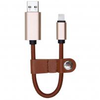 Elegantní 2 v 1 nabíjecí kabel s flash pamětí pro Apple iPhone / iPad / iPod - hnědý - 32GB