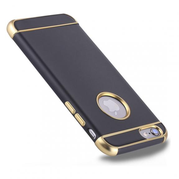 AppleKing ochranný kryt pro Apple iPhone 6 / 6S - černo-zlatý - možnost vrátit zboží ZDARMA do 30ti dní