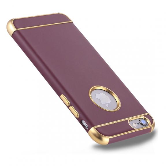 AppleKing ochranný kryt pro Apple iPhone 6 / 6S - zlatý / vínový - možnost vrátit zboží ZDARMA do 30ti dní