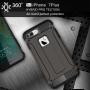 "Super odolný ""Armor"" kryt na Apple iPhone 8 Plus / 7 Plus - kávově hnědý"