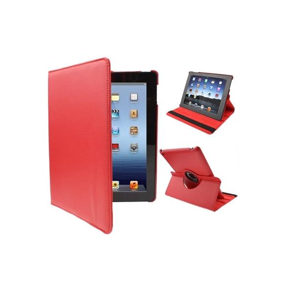 AppleKing pouzdro / kryt s otočným držákem pro iPad 2. / 3. / 4.gen - červené - možnost vrátit zboží ZDARMA do 30ti dní
