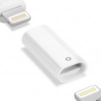 Adaptér s lightning female konektory pro nabíjení Apple Pencil - bílý