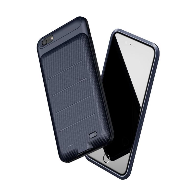 BASEUS štíhlý kryt s baterií 2500mAh pro Apple iPhone 6   6S - tmavě modrý  ... 6550bae93ce