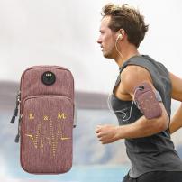 Univerzální sportovní pouzdro / kapsa na ruku pro Apple iPhone / iPod - růžové