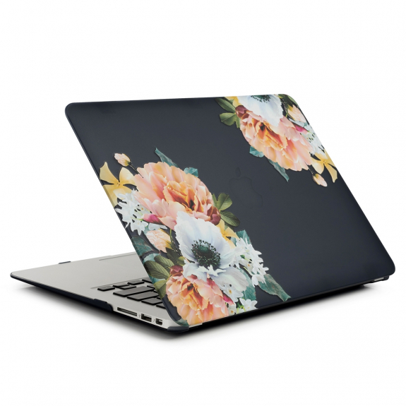 "AppleKing tvrzený ochranný plastový obal / kryt pro MacBook Air 13"" (model A1369 / A1466) - květ"