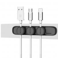 BASEUS magnetický organizér kabelů pro Apple zařízení - černý