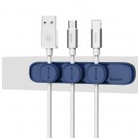 BASEUS magnetický organizér kabelů pro Apple zařízení - modrý