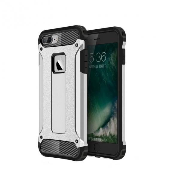 """Super odolný """"Armor"""" kryt na Apple iPhone 8 Plus / 7 Plus - stříbrný"""