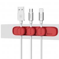 BASEUS magnetický organizér kabelů pro Apple zařízení - červený