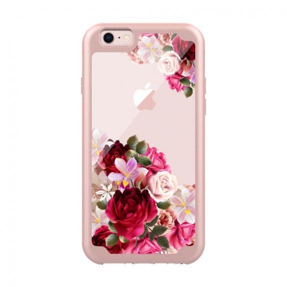 Ochranný kryt s transparentní zadní stranou pro Apple iPhone 6   6S - růžový  s květinami - AppleKing.cz 1ba3745e99e
