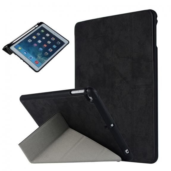 """AppleKing ochranné pouzdro pro Apple iPad 9,7"""" (2017/2018) / iPad Air s prostorem pro Apple Pencil - černé - možnost vrátit zboží ZDARMA do 30ti dní"""