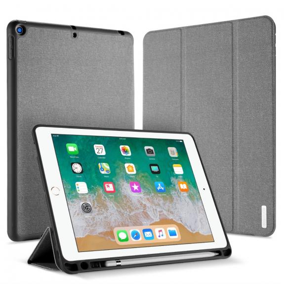 """DUX DUCIS pouzdro s prostorem pro Apple Pencil pro Apple iPad 9,7"""" (2017/2018) - šedé - možnost vrátit zboží ZDARMA do 30ti dní"""