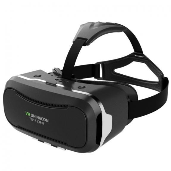 AppleKing virtuální brýle VR SHINECON 3D s dálkovým ovládáním pro Apple iPhone - černé - možnost vrátit zboží ZDARMA do 30ti dní