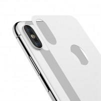 BASEUS tvrzené zadní sklo pro iPhone XS / iPhone X - bílá