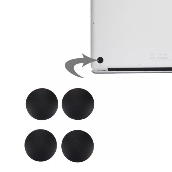 AppleKing náhradní spodní gumové nohy pro Apple Macbook Air (A1370, 1369, 1466, 1465) - 4ks - černé - možnost vrátit zboží ZDARMA do 30ti dní