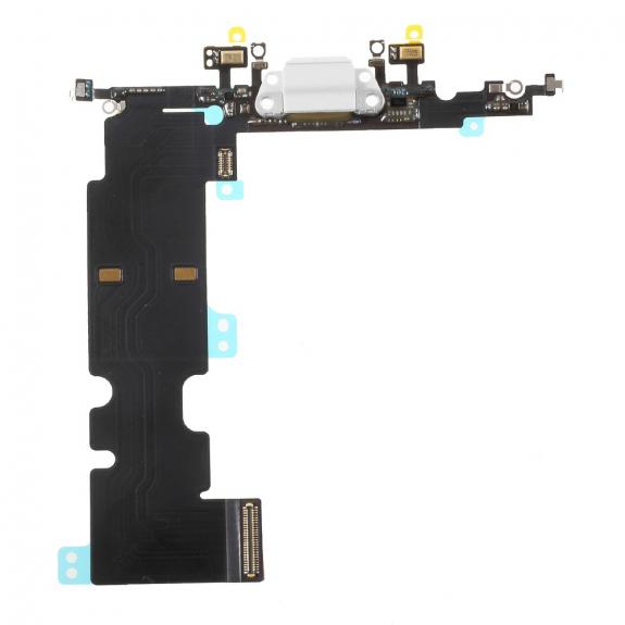 AppleKing napájecí a datový konektor s flex kabelem pro Apple iPhone 8 Plus - bílý - možnost vrátit zboží ZDARMA do 30ti dní