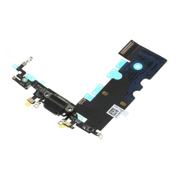 AppleKing napájecí a datový konektor s flex kabelem pro Apple iPhone 8 - černý - možnost vrátit zboží ZDARMA do 30ti dní