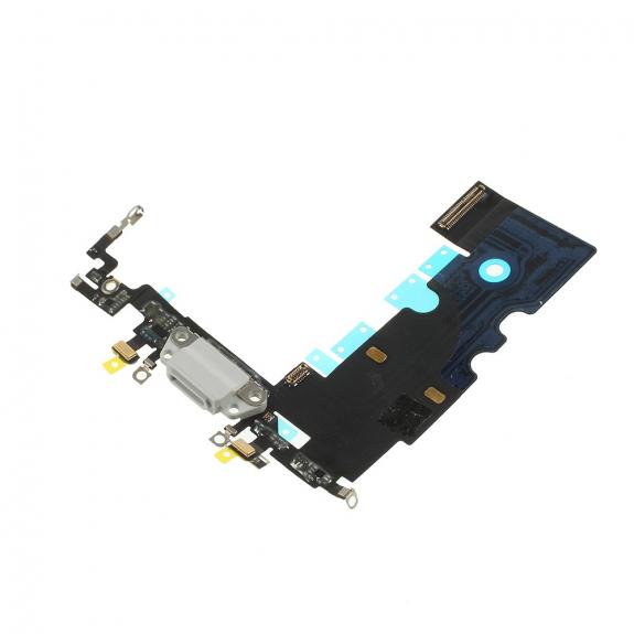 AppleKing napájecí a datový konektor s flex kabelem pro Apple iPhone 8 - bílý - možnost vrátit zboží ZDARMA do 30ti dní