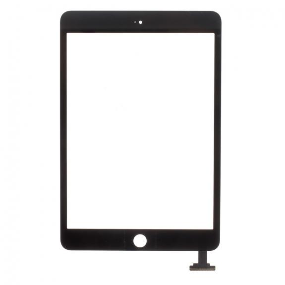 AppleKing přední dotykové sklo (touch screen) pro Apple iPad mini 3 s tlačítkem Home Button a lepidlem - TOP kvalita - černé - možnost vrátit zboží ZDARMA do 30ti dní