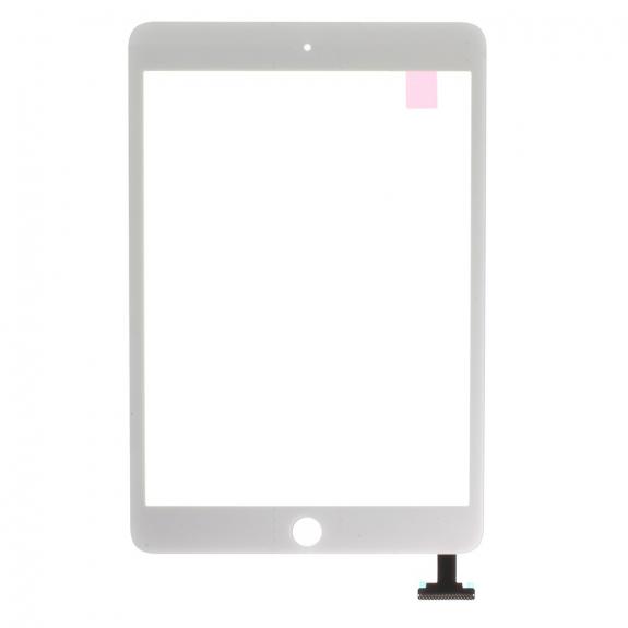 AppleKing přední dotykové sklo (touch screen) pro Apple iPad mini 3 s tlačítkem Home Button a lepidlem - TOP kvalita - bílé - možnost vrátit zboží ZDARMA do 30ti dní