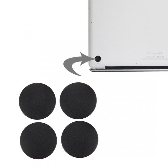 AppleKing náhradní spodní gumové nohy pro Apple Macbook Pro (A1278, A1286, A1297) - 4ks - černé - možnost vrátit zboží ZDARMA do 30ti dní