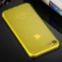 Ultratenký 0.5mm tmavý silikonový kryt pro Apple iPhone 8 / 7 - žlutý