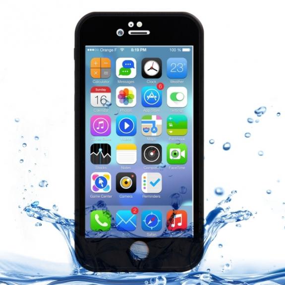 AppleKing voděodolný obal / kryt pro Apple iPhone 7 - černý s diamantovým vzorkem - možnost vrátit zboží ZDARMA do 30ti dní