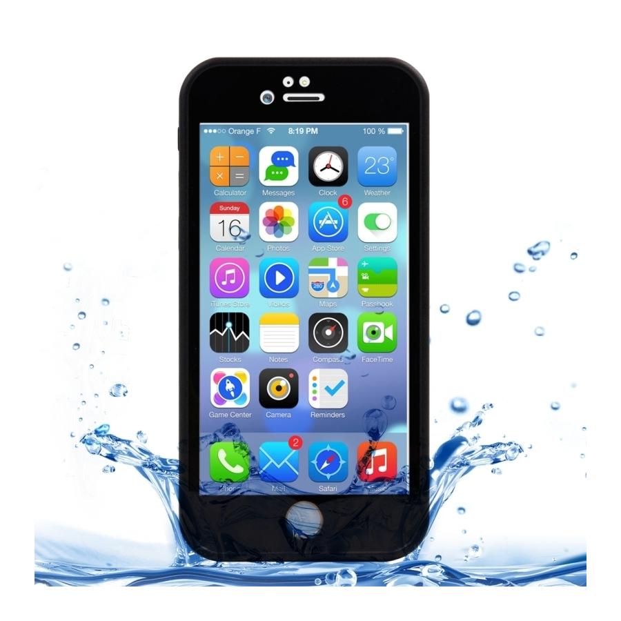 Voděodolný obal   kryt pro Apple iPhone 8   7 - černý s diamantovým vzorkem  ... 5698a7fdc4f