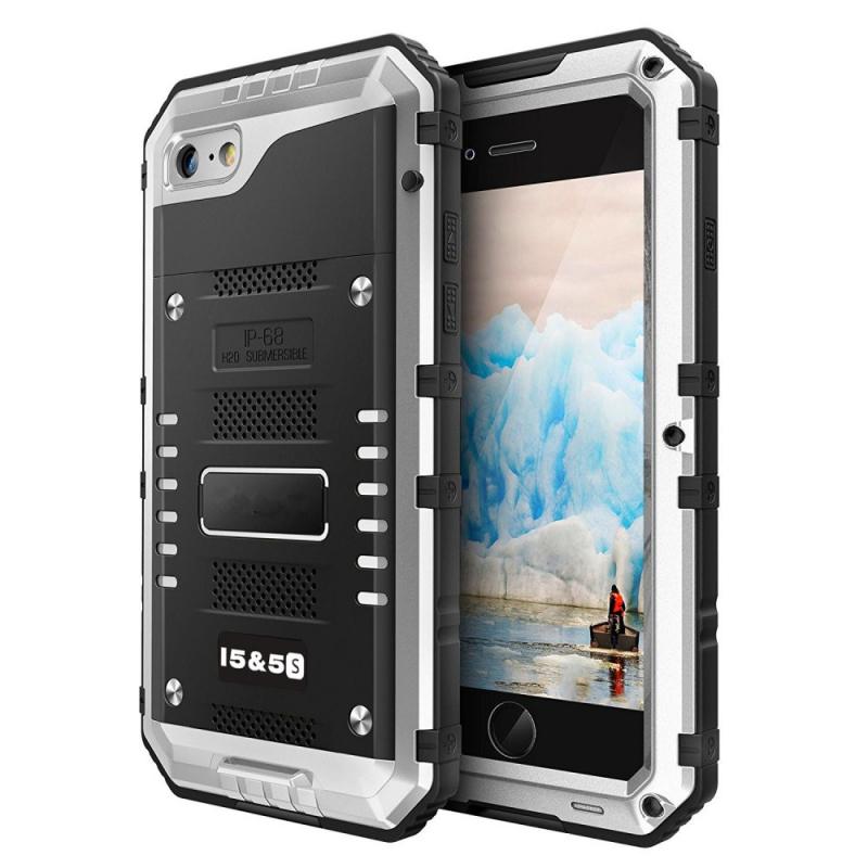 Vysoce odolné pouzdro pro iPhone SE   5   5S - šedé - AppleKing.cz 46b2b1f26f5