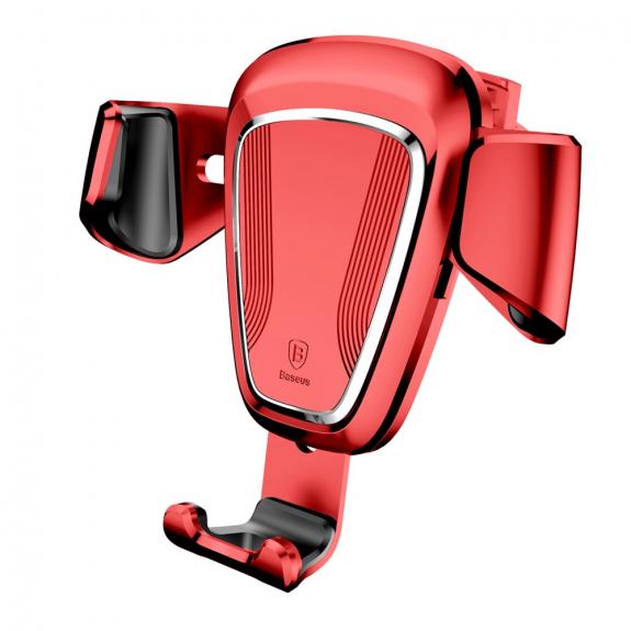 AppleKing bASEUS gravitační držák do auta pro iPhone - červený - možnost vrátit zboží ZDARMA do 30ti dní