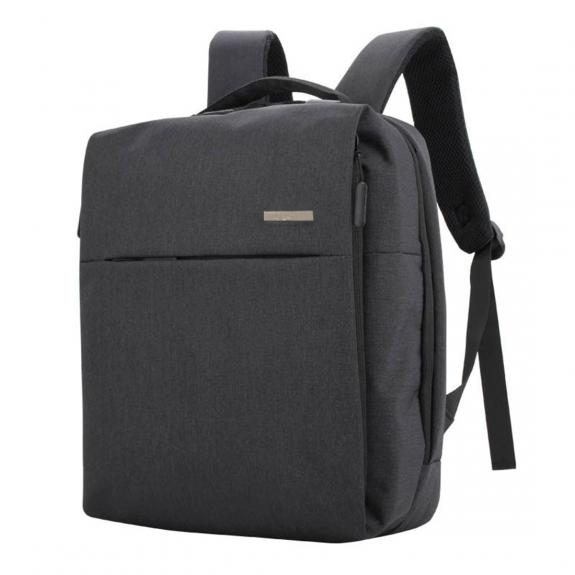 Shinlee multifunkční batoh s externím USB a jack portem - černý - možnost vrátit zboží ZDARMA do 30ti dní