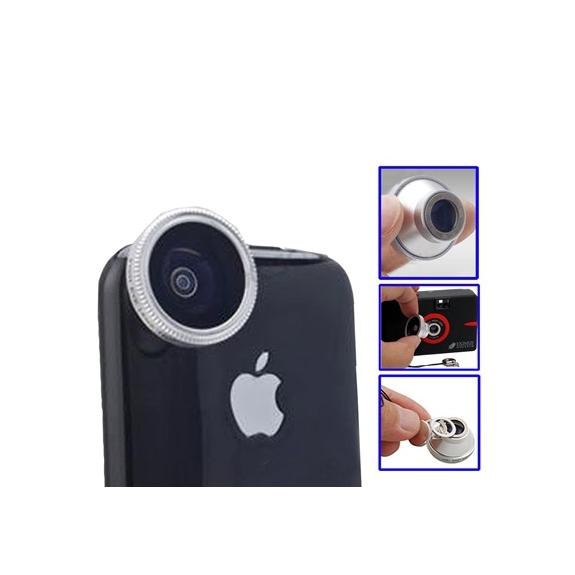 AppleKing Širokoúhlý objektiv rybí oko 180° pro iPhone 4 / 4S - možnost vrátit zboží ZDARMA do 30ti dní
