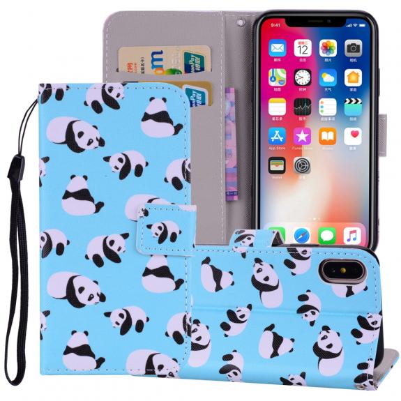 AppleKing flipové pouzdro pro iPhone XS Max - pandy - možnost vrátit zboží ZDARMA do 30ti dní