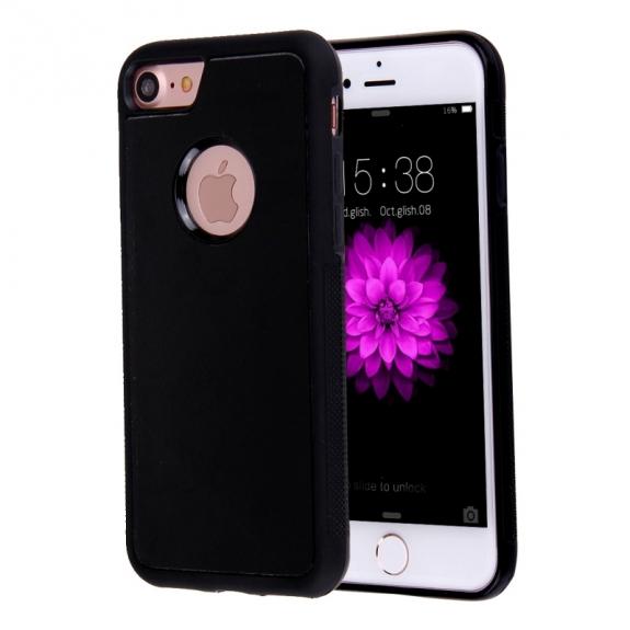 AppleKing antigravitační samolepící kryt pro Apple iPhone 8 / 7 s otvorem pro Apple logo - černý - možnost vrátit zboží ZDARMA do 30ti dní