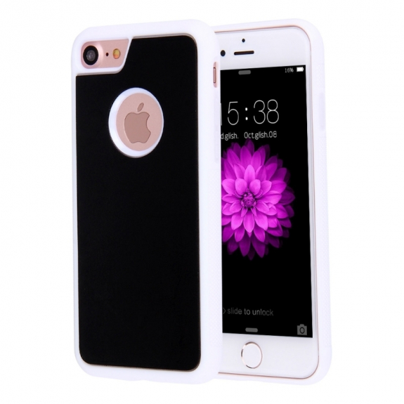 AppleKing antigravitační samolepící kryt pro Apple iPhone 8 / 7 s otvorem pro Apple logo - bílý - možnost vrátit zboží ZDARMA do 30ti dní