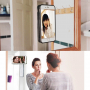 Antigravitační samolepící kryt pro Apple iPhone 8 / 7 s otvorem pro Apple logo - bílý