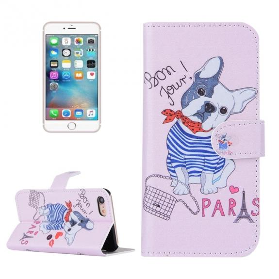 AppleKing otvírací / flip peněženkové pouzdro se stojánkem a sloty na karty pro Apple iPhone 7 - Francouzský buldok - možnost vrátit zboží ZDARMA do 30ti dní