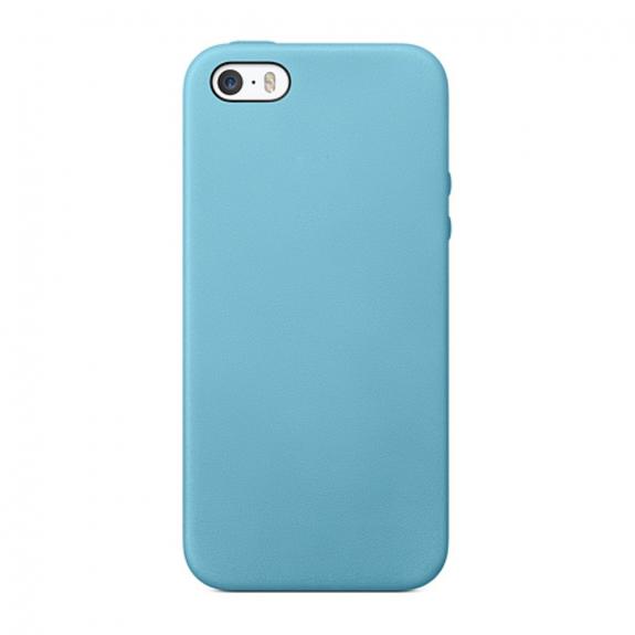 AppleKing elegantní kryt na Apple iPhone 5 / 5S / SE - světle modrý - možnost vrátit zboží ZDARMA do 30ti dní